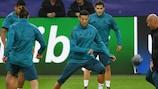 Cristiano Ronaldo will lead the line for European champions Madrid