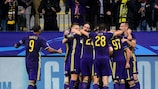 Maribor celebrate their matchday one goal