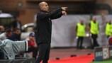 Monaco coach Leonardo Jardim issues instructions on matchday two