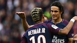 Edinson Cavani is rated doubtful for Paris's trip to Anderlecht