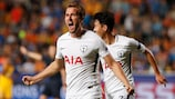 Harry Kane's hat-trick took him to five goals in the competition this season