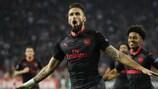 Arsenals Olivier Giroud erzielte in Belgrad das einzige Tor des Abends