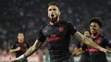 Olivier Giroud (Arsenal) fête son but