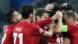 Spartak Moskva celebrate their matchday three win