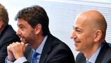 Andrea Agnelli e Ivan Gazidis, representantes da Associação Europeia de Clubes (ECA), são membros plenos do Comité Executivo da UEFA