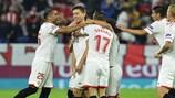 Clément Lenglet celebra el primer gol del Sevilla