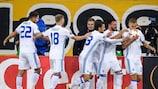 Vitaliy Buyalskiy feiert seinen Siegtreffer für Dynamo Kiew