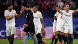 Sevilla celebrate their matchday five comeback