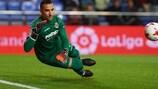 Sergio Asenjo makes a save in Villarreal's 3-0 Copa del Rey win against Ponferradina