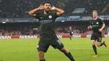 Sergio Agüero hizo historia el miércoles con el City ante el Nápoles
