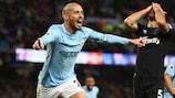 David Silva scored Manchester City's winner against West Ham