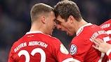 Thomas Müller festeja o golo marcado pelo Bayern contra o Dortmund