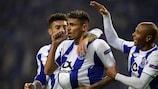 L'esultanza del Porto per la vittoria alla sesta giornata
