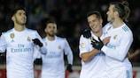 Gareth Bale festeja após colocar o Real Madrid em vantagem frente ao Numancia