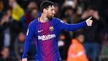 Lionel Messi festeja após marcar o seu segundo golo e do Barcelona frente ao Celta