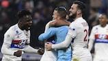 Lyon savour their late victory against Paris Saint-Germain