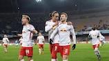 Timo Werner erzielte bei Leipzigs jüngstem Auswärtsspiel in der Europa League bei Napoli zwei Tore
