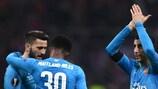 Arsenal feiert seinen Sieg in Mailand