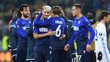 La Lazio festeggia la qualificazione ai quarti