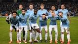 El Manchester City, poco antes de su duelo ante el Basilea