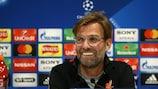 Jürgen Klopp fala à imprensa antes da primeira mão contra a Roma