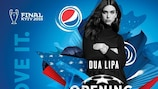 Dua Lipa actuará en la final de la UEFA Champions League en Kiev