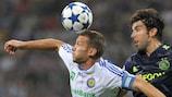Andriy Shevchenko (Dynamo Kyiv) face à l'Ajax en 2010/11. Les deux clubs sont à nouveau opposés cette saison