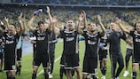 Ajax celebrate victory in the play-offs