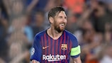 "Lionel Messi assinou o oitavo ""hat-trick"" na UEFA Champions League pelo Barcelona"
