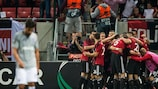 Spartak Trnava celebrate on matchday one
