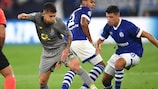 Porto's Otávio (left) with Alessandro Schöpf of Schalke on matchday one