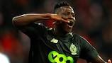 Moussa Djenepo after scoring Standard's winner against Sevilla last season