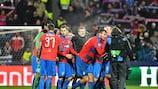 Plzeň celebrate reaching the round of 32
