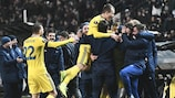 BATE celebrate during their decisive matchday six win against PAOK