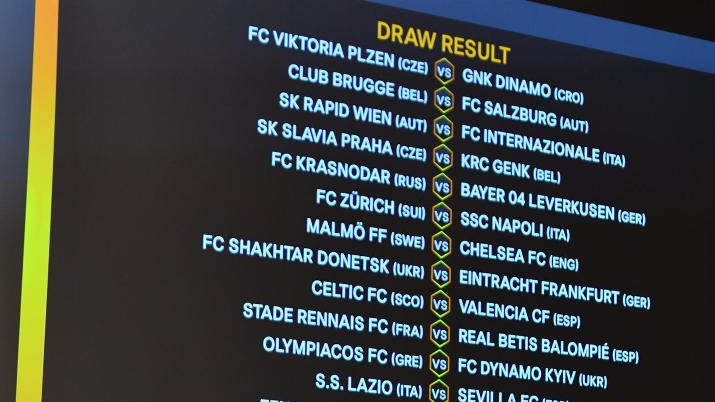11++ Europa League 2020 Bracket