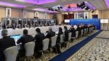 Die Sitzung des UEFA-Exekutivkomitees in Dublin.