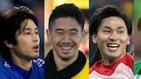 Atsuto Uchida, Shinji Kagawa, Takumi Minamino e Shunsuke Nakamura