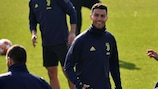 Cristiano Ronaldo training ahead of his return to Madrid