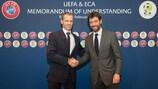 L'UEFA et l'ECA signent un protocole d'accord