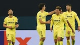 Villarreal celebrate their victory at Zenit