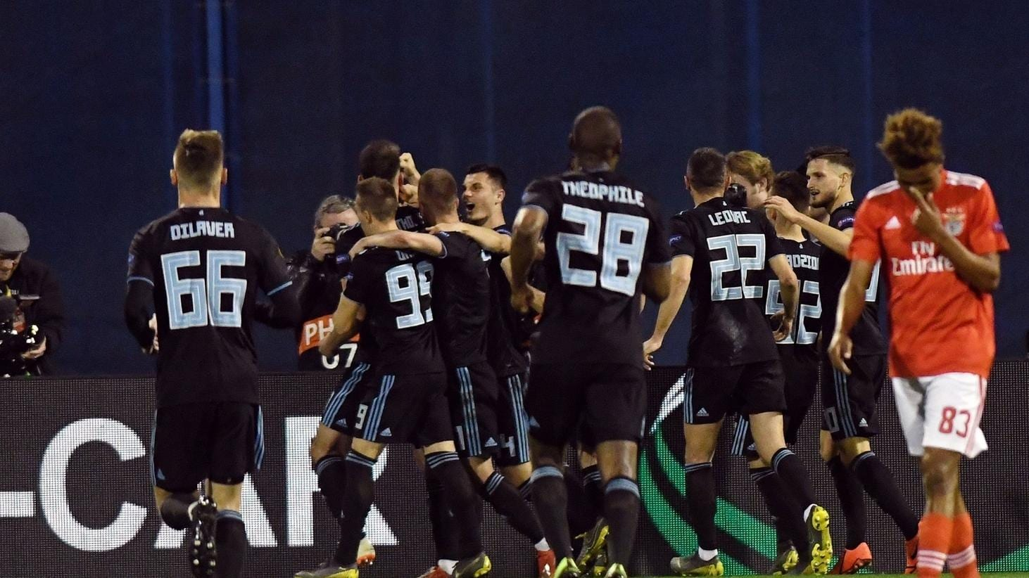 Trudiogmor Dinamo Zagreb Europa League Table