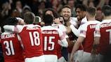 L'Arsenal festeggia la vittoria agli ottavi