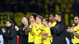 Dortmund players after their elimination last season
