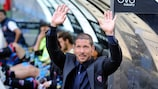Diego Simeone pictured during his spell at Catania