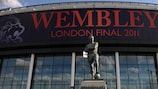 Wembley Stadium will stage the UEFA Champions League final for the second time in three years