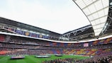 The 2011 final crowd of 87,695 was the second largest of the UEFA Champions League era