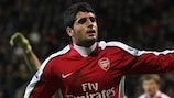 New Atlético signing Fran Mérida in one of his rare outings for Arsenal