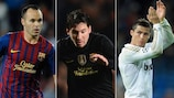 Iniesta, Messi, Ronaldo up for Best Player Award