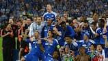 Chelsea celebrate at full time in Munich