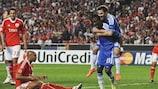 Salomon Kalou celebrates his winner against Benfica in Lisbon last season